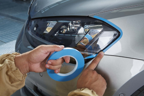 Indasa Fine Line Blue Tape Application Picture