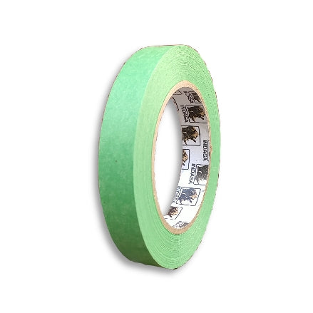 "Indasa MTE Premium Green Masking Tape, 18mm (0.75""), 596845, roll"