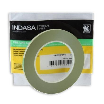 "Indasa 25mm (1"") Green Fine Line Tape (578292)"