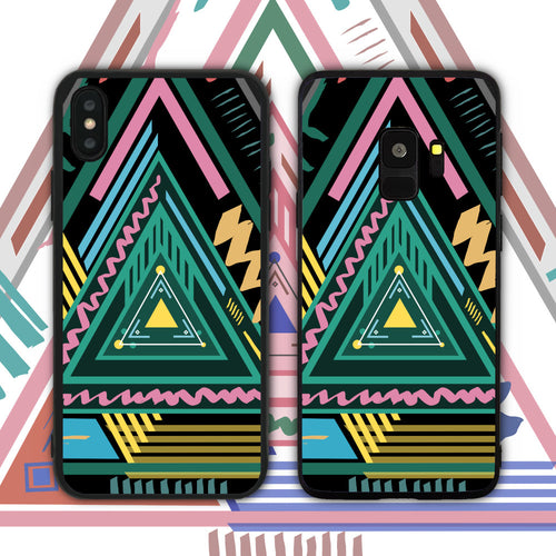 Abstract Triangles Phone Case