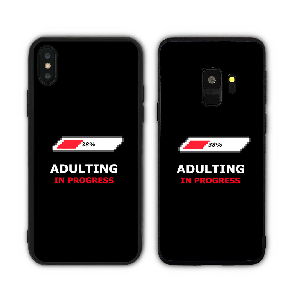 Adulting In Progress Black  Phone Case