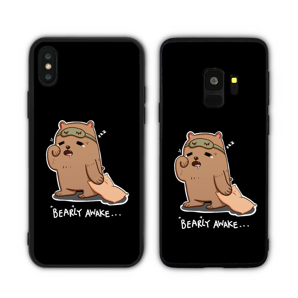 Bearly Awake Black Phone Case
