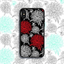 Load image into Gallery viewer, Black and Red Flowers Phone Case