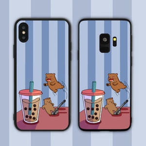 Bubble Tea Bear Love Phone Case
