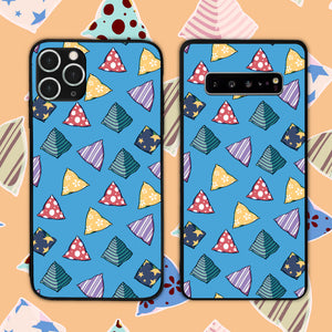 Five Stones Pattern In Blue Phone Case