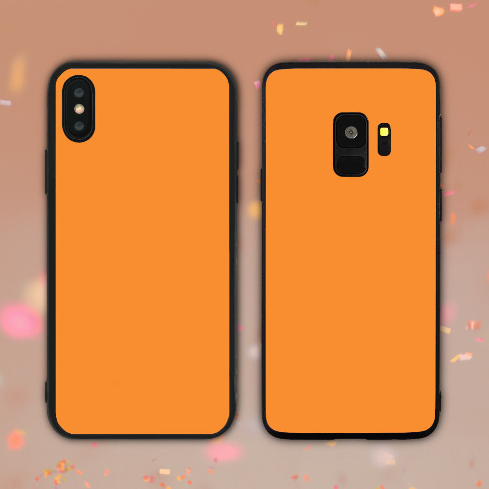 Flame Orange Color Series Phone Case