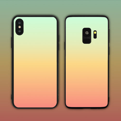 Green Peach Gradient Series Phone Case