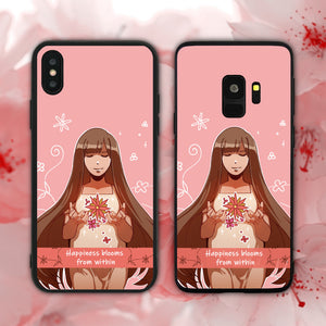 Happiness Blooms From Within Phone Case