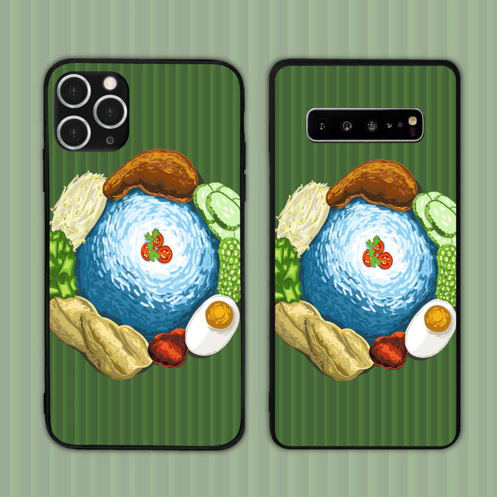 Nasi Kerabu On Pandan Leaf Phone Case