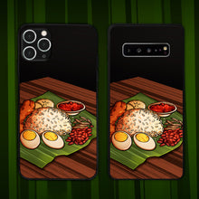 Load image into Gallery viewer, Nasi Lemak On Pandan Leaf Phone Case