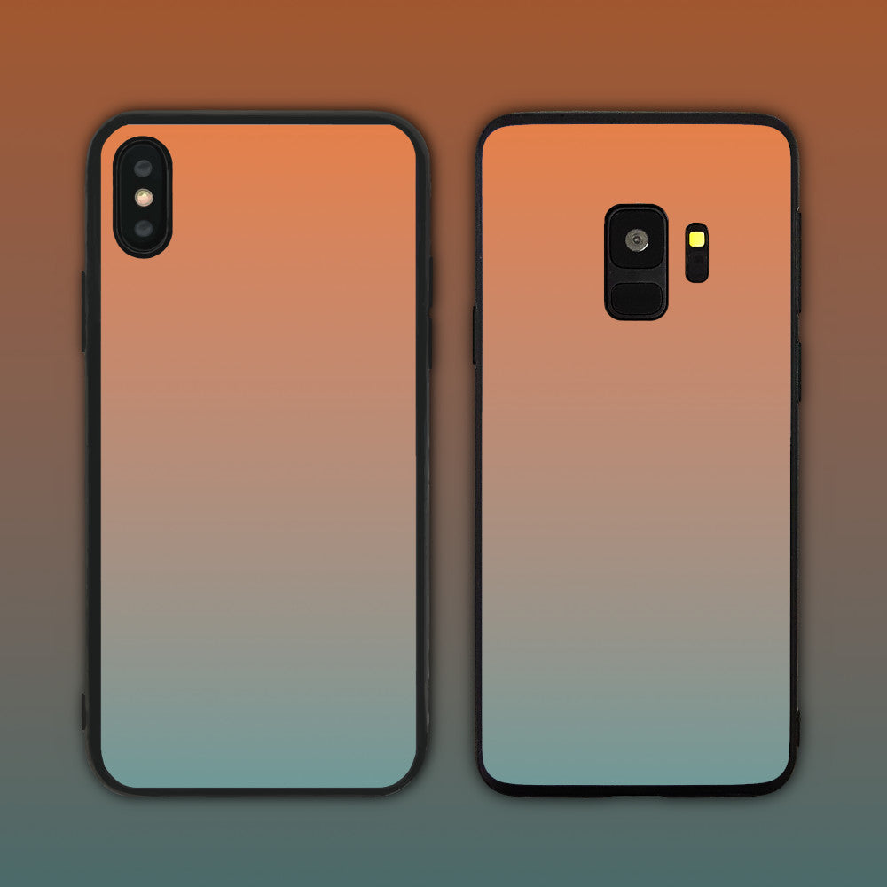 Orange Grey Gradient Series Phone Case