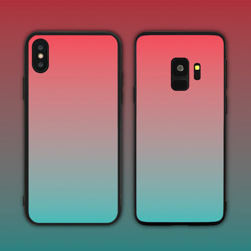 Red Teal Gradient Series Phone Case