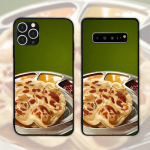 Roti Canai With Curries Portrait Phone Case