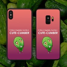 Load image into Gallery viewer, You'd Be A Cute-cumber (Cucumber) Phone Case