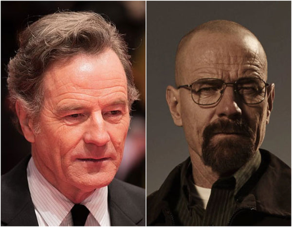 Bryan Cranston with and without hair