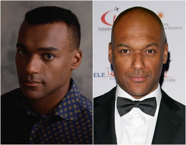 Colin Salmon with and without hair