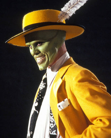 The mask Jim Carey in yellow suit and green mask