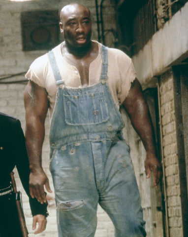 John Coffey from The Green Mile in denim jumpsuit