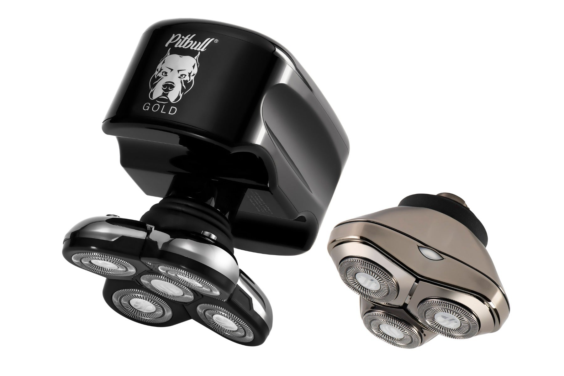 Pitbull Gold Plus head and face shaver with two blades