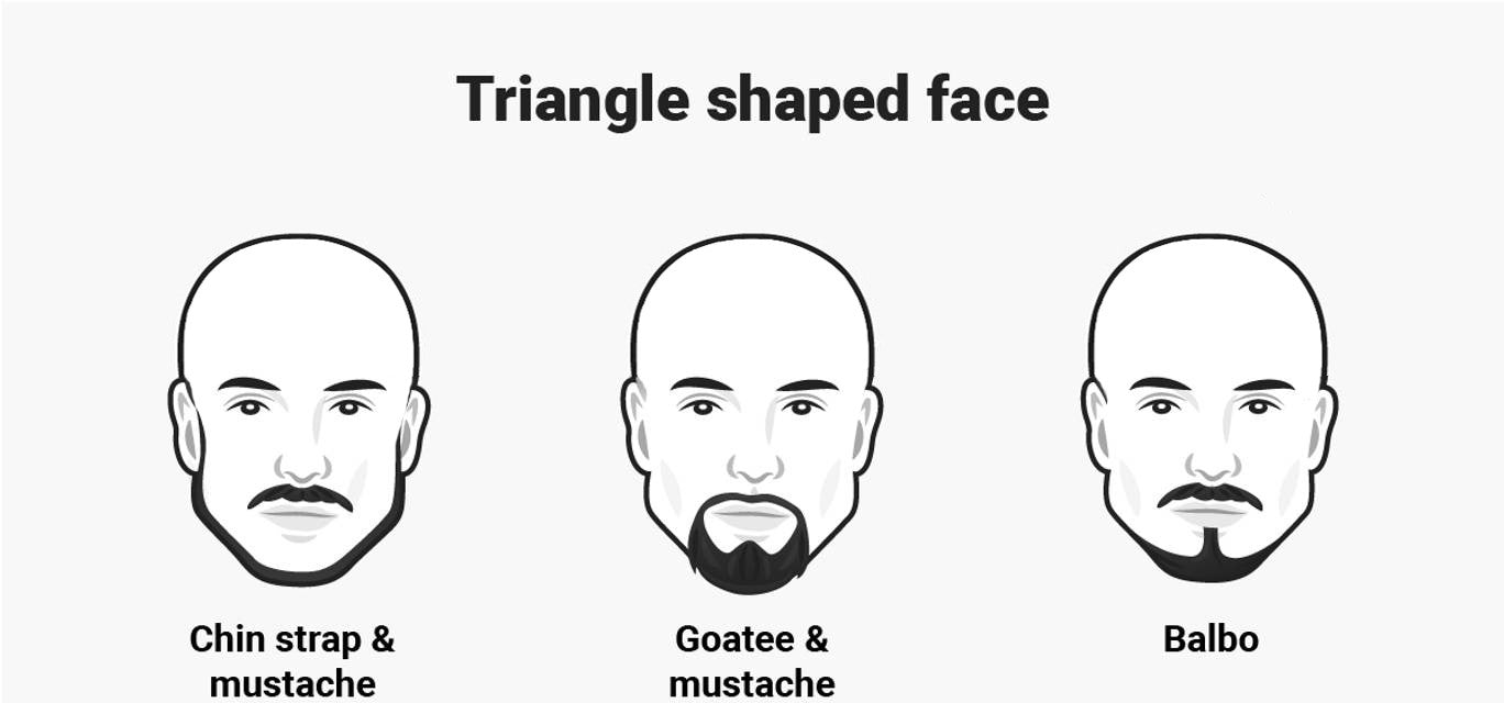 Triangle face with Balbo, Goatee and Chin Strap beard