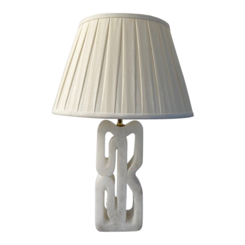 Vintage Carved Marble Lamp
