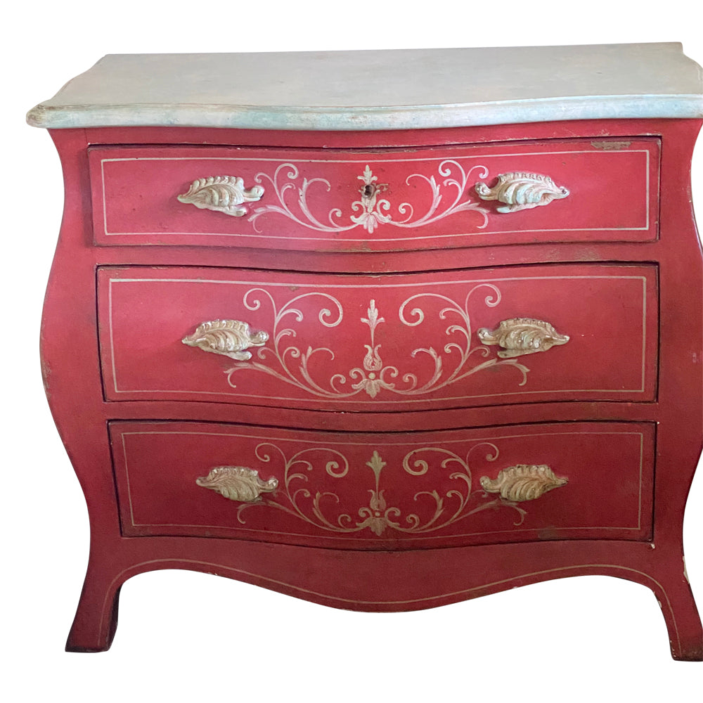 Painted Italian Bombe Chest