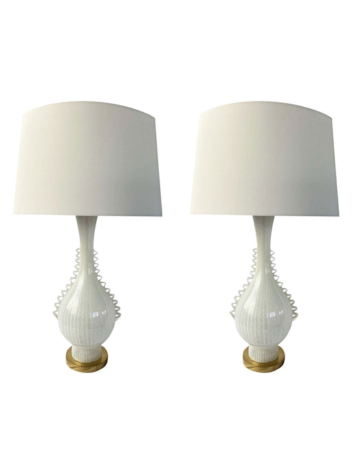 Murano Ribbon Glass Table Lamp (Pair)