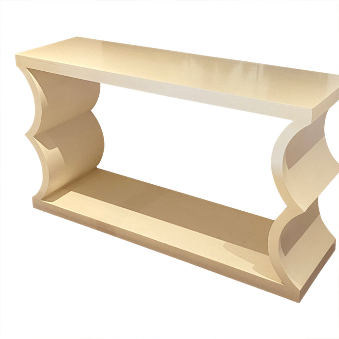 Designer Lacquered Console Table