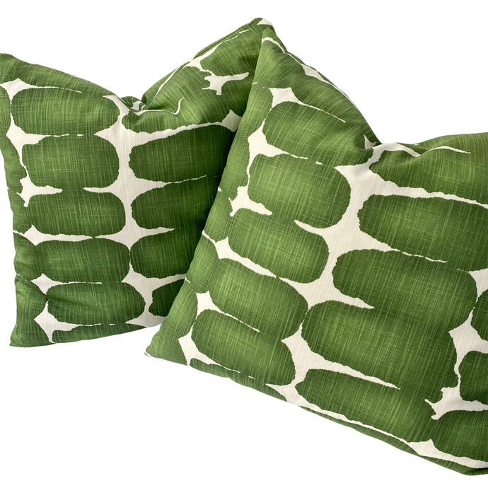 Printed Graphic Linen Accent Pillows (Pair)
