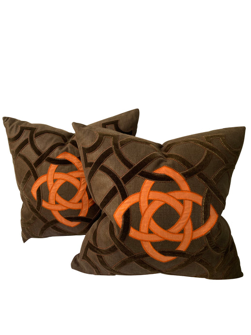 Holland & Sherry Decorative Euro Pillows (Pair)