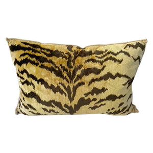 Vintage Scalamandre Silk Tiger Print Pillow