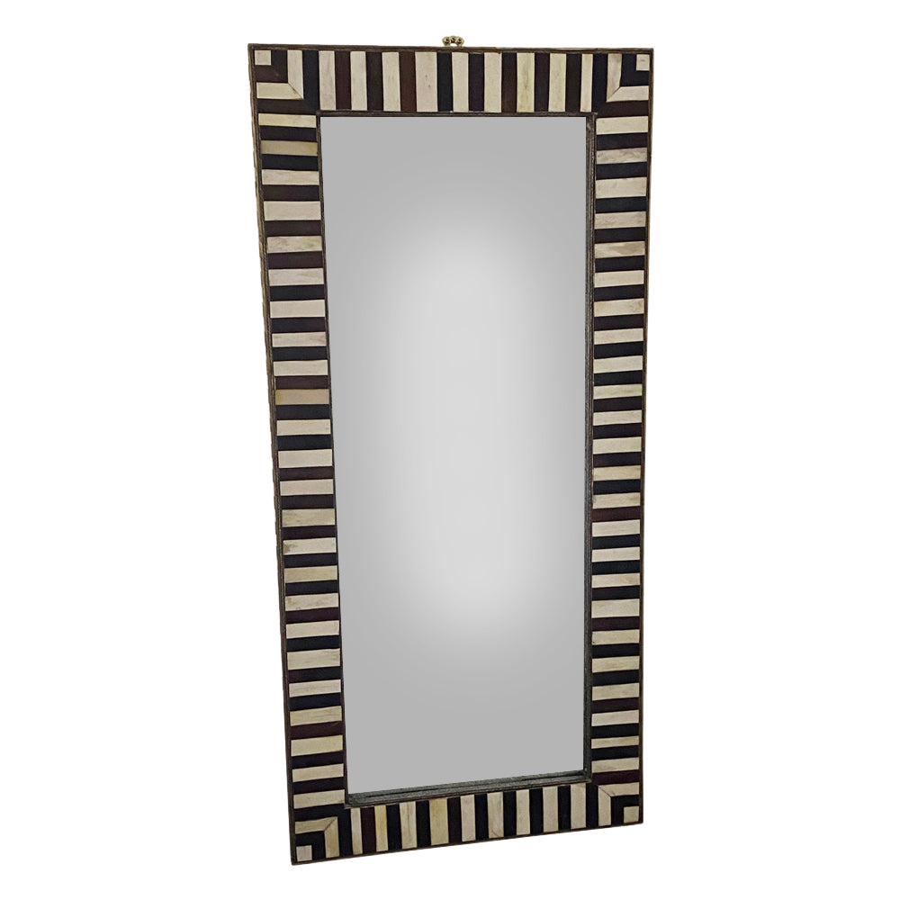 Large Moroccan Bone and Ebony Mirror