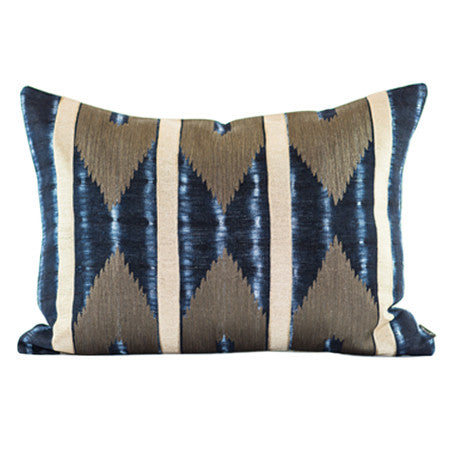 SHIBORI IKAT BENCH PILLOW