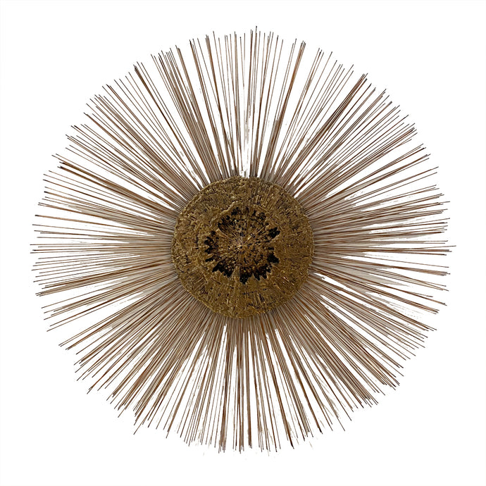 Curtis Jere Brass Starburst Wall Sculpture (Mid-Century)