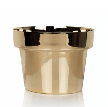 FLOWER POT - POLISHED BRASS