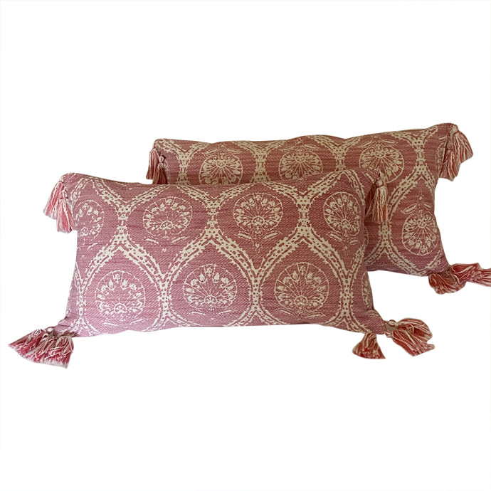 Ogee Print Pillows (Pair)