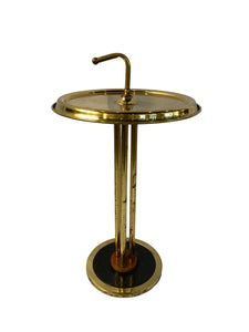 Brass Art Deco Martini Table