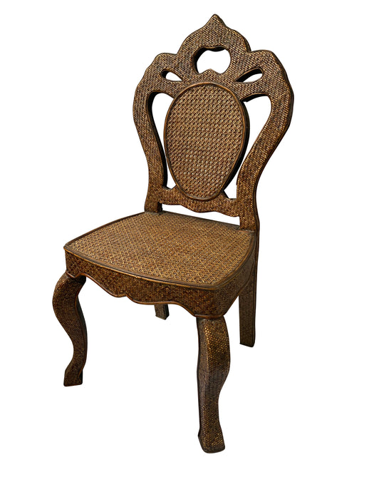 Victorian Caned Wooden Hall Chair