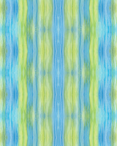 WATERCOLOR STRIPES - BLUE & GREEN