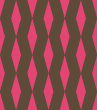 Load image into Gallery viewer, ZIG-ZAG - HOT PINK & BROWN