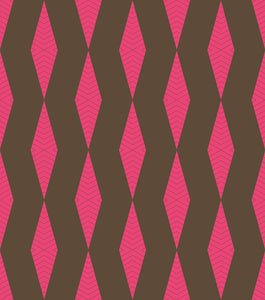 ZIG-ZAG - HOT PINK & BROWN