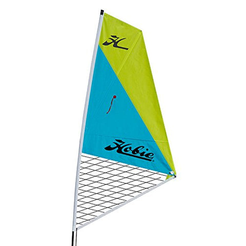 Hobie Mirage Kayak Sail Kit-Aqua/Chartreuse - kayakmodify