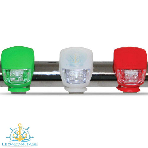 Kayak Set of 3 Compact Emergency Water-Resistant LED NAVIGATIONS Lights - Jet SKI Canoes - kayakmodify