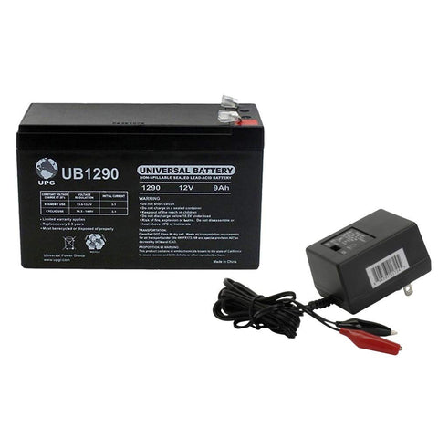 Universal Power Group 12V 9AH Battery for Lowrance Elite-3x Fish Finder WITH CHARGER - kayakmodify