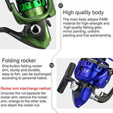 ROWEQPP Spinning Fishing Reel for Fresh/Salt Water Carp Casting Baiting Metal Spool Fishing Tackle Reels Green GCA7000 - kayakmodify