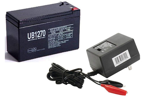 Universal Power Group 12V 7AH Replcement Battery for Piranha MAX 160 Fish Finder with Charger - kayakmodify