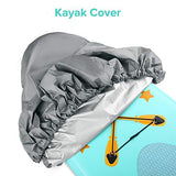 Kohree Kayak Canoe Storage Dust Cover Waterproof & UV Protection Cover for Fishing Boat, Kayak, Canoe, 3.6-4m/10.8-12ft - kayakmodify