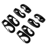 Kayak 8 Pieces 7.5mm Shock Cord Bungee Rope Clip Hook Paddle Rod Leash - kayakmodify