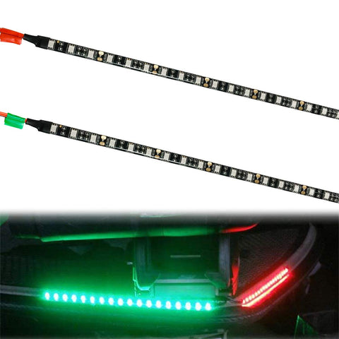 WOTECH Boat Lights, LED Boat Bow Navigation Lights for Marine Pontoon Kayak Yacht, 12V Power Light Strip Kit - Red and Green - kayakmodify