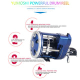 ROWEQPP Fishing Reel Drum ACL with Counter Reel Full Metal Bearing Stainless Steel Fishing Vessel Spinning Reel Blue 30 Right - kayakmodify
